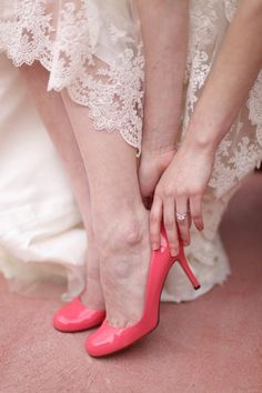 salmon wedding shoes