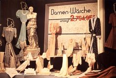 Lodz, Poland, A display of handiwork and women's clothing sewn in the ghetto.
