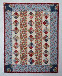 Americana Diamonds Doll Quilt | FaveQuilts.com