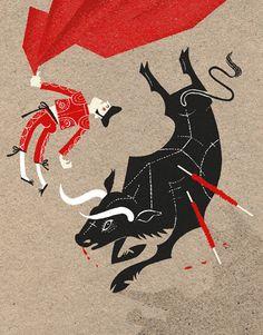 Torero & Toro by Esther Aarts