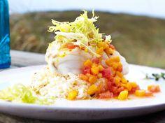 Filet vom Kabeljau mit Mangosalsa und cremigem Gewürzreis Rezept