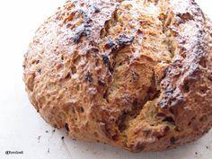 fresh baked onion artisan bread loaf