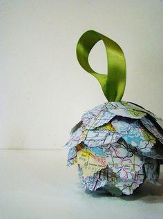 map ornament #DIY