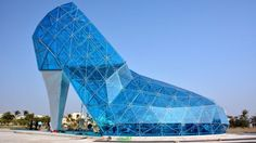 A 16 m high glass church in the shape of a high-heeled shoe has been built in Taiwan in a bid to appeal to women.