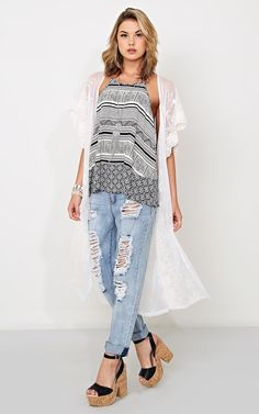 Vacation Dreams Woven Duster - New Arrivals