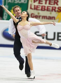 Madison Chock and Evan Bates of USA Ice Dance Free Rostelecom Cup 2013.  Ice Dance Costume inspiration for Sk8 Gr8 Designs.