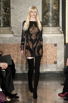 Milan Fashion Week Fall 2013 Runway Looks - Best Milan 2013 Runway Fashion. Over the knee boots