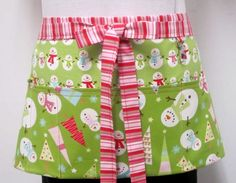 Items similar to Winter Be Merry Green Snowmen Zipper/Key Clasp Vendor Half Apron on Etsy Christmas Craft Show, Merry Christmas To All, Holiday Crafts, Craft Show Displays, Craft Show Ideas, Fabric Crafts, Sewing Crafts, Sewing Projects, Crafts To Do