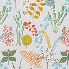 Latest Designer Fabric 'Botanik fabric in Light Blue' by Spira (SWE). All latest designer fabric sold online. Orla Kiely Fabric, Marimekko Fabric, Apartment Furniture, Japanese Fabric, Gorgeous Fabrics, Fabric Design, Light Blue, Colours, Quilts
