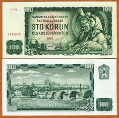 Czechoslovakia Korun banknotes for sale. Dealer of quality collectible world banknotes, fun notes and banknote accessories serving collectors around the world. Over 5000 world banknotes for sale listed with scans and images online. Retro 2, Retro Vintage, Best Memories, Childhood Memories, World Coins, My Heritage, Coin Collecting, The Good Old Days, Czech Republic