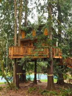 The Falls Treehouse - Wild Tree Woodworks