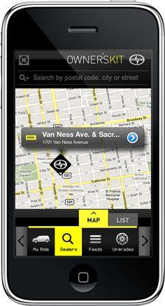 Scion iPhone App Design by Robert Gourley, via Behance