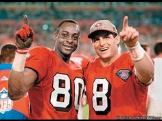 Jerry Rice and Steve Young