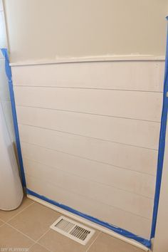 A shiplap tutorial for beginners! This step-by-step tutorial will guide you throughout your first shiplap project with rookie tips and hints along the way.