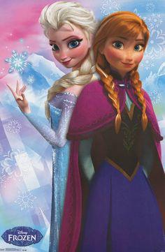 Frozen Princess Anna and Elsa Poster 22x34