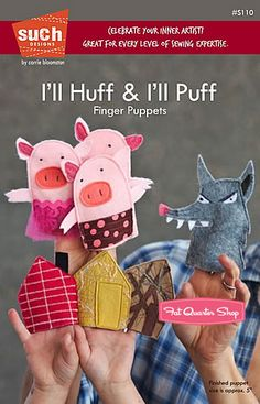 3 little pigs --> could make into a fun quiet book page