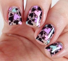 Get inspirations from these cool stylish nail designs for short nails. Find out which nail art designs work on short nails! Great Nails, Fabulous Nails, Gorgeous Nails, Simple Nails, Cute Nails, Simple Nail Art Designs, Nail Designs, Cute Nail Polish, Valentine Nail Art
