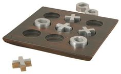Van Ness Industrial Tic-Tac-Toe Set, Pewter - modern - accessories and decor - Apt2B $58.00