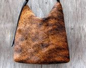 Hair On Cowhide Purse in Brown Zebra Print Super by stacyleigh