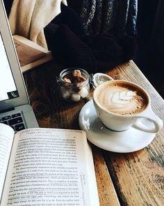 coffee - Book and Coffee Book And Coffee, But First Coffee, Coffee Cafe, My Coffee, Coffee Drinks, Morning Coffee, Coffee Mugs, Bunn Coffee, Cheap Coffee