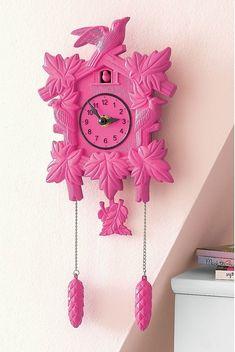 Cool Cuckoo Clock love the pink!
