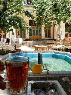 Tea and a courtyard like this is all I need. Nice Tops, Perfect Place, Cozy, Places, Outdoor Decor, Pictures, Image, Photos, Photo Illustration