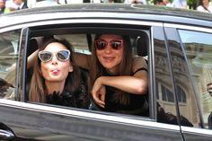 Street looks à la Fashion Week haute couture de Paris, Jour 2 La directrice artistique de Maison Michel Laetitia Crahay et Natalya Maximova