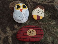 Harry Potter Series Rock Painting Find us on Facebook at Northeast Ohio Rocks #northeastohiorocks #harrypotter