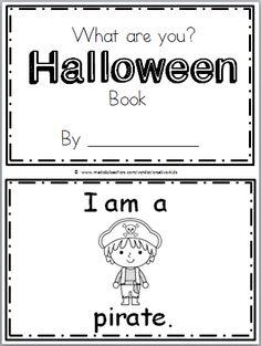 Halloween Book for Kindergarten (9 pages)