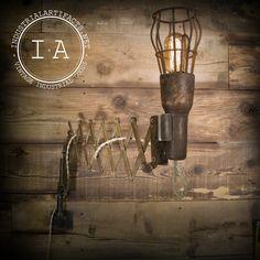 Vintage Industrial Dental Scissor Arm Extendable Lamp Steampunk