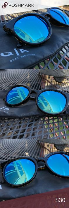 Quay | DON'T CHANGE  QUAY Sunglasses Acetate frames UV protection Includes soft pouch 60-25-140 in mm  Manufacturer Style No. QW 000176 TORT BLUE Quay Australia Accessories Sunglasses