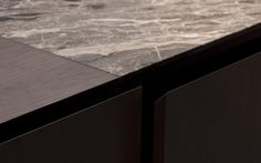 Detail of the work top of the Minotti Inca kitchen by Silvano Bonetti and Alberto Minotti.