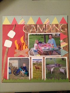 Camping Scrapbooking page