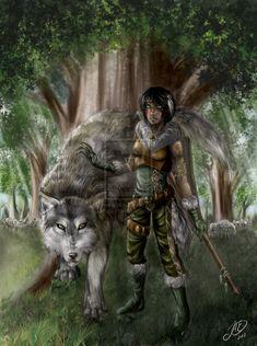 Faolan, Halfling Druid of Wolves by ~BunnyValtir on deviantART