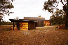 The Über Shed / Patrick Jost. Interiors by Nina Caple. At Greens Road, Main Ridge VIC, Australia.