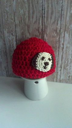 Puppy Crochet Hat for Boys  Red Crochet Hat by MimisBabiesProps, $20.00