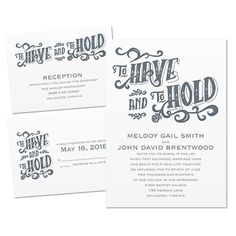 Forever Trendy 3 for 1 Wedding Invitation   Wedding Invite Kits at Invitations By Dawn