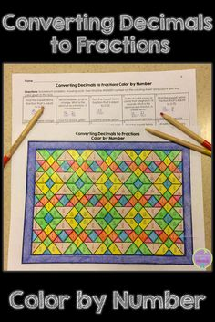 Looking for a fun math activity to review decimal to fraction conversions? This decimal to fraction color by number is great for upper elementary and middle school students.
