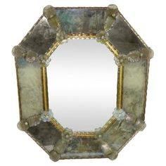 Check out this item at One Kings Lane! Murano Glass Mirror