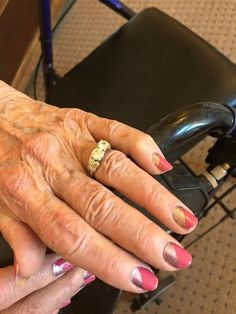 Jamberry Nails {Pretty in Pink} on a beautiful 90yr old lovely lady <3 #Jamberry #PrettyInPinkJN #chellsjamminnails ORDER @ www.chellsjamminnails.jamberrynails.net