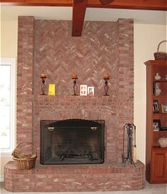 Best Dyi Mantel Piece Ideas Images Brick Fireplace