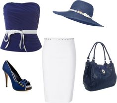 navy blue, created by juliansbunny on Polyvore
