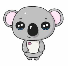 ▷ 1001 + nice pictures to paint and video instructions ▷ 1001 + schöne Bilder zum Nachmalen und Video-Anleitungen Paint the kawaii koala yourself, with big eyes, a small heart on the chest, cute pictures to trace Kawaii Disney, Kawaii Anime, 365 Kawaii, Arte Do Kawaii, Kawaii Art, Koala Kawaii, Kawaii Room, Kawaii Stuff, Easy Cartoon Drawings