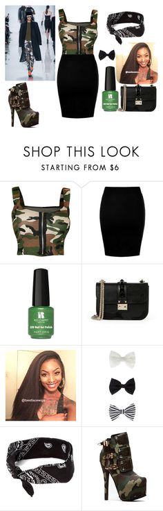 """Camo"" by azari1 ❤ liked on Polyvore featuring WearAll, Red Carpet Manicure, Valentino, Accessorize and claire's"
