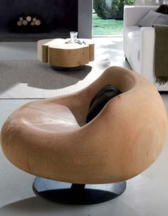 Hand crafted chair from Riva1920 collection.