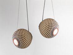 knitted modern lighting  padent light  light balls by KNITTEDLIGHT, $440.00