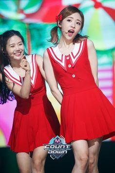 dedicated to wm entertainment's first girl group, oh my girl: hyojung, jine, mimi, First Girl, My Girl, Girl Group, Cheer Skirts, Peplum Dress, Babys, Random Things, Dresses, Fashion