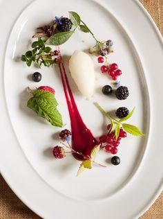 Summer berries and elderflower sorbet from Pete Gawron's Taste of Central Otago