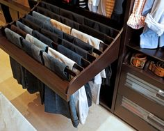 Space saving idea for my new wardrobe