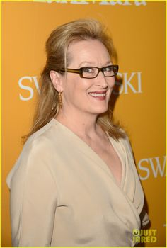 Meryl Streep shows off her spexy style in a pair of demure brown frames at the 2012 Women in Film Awards